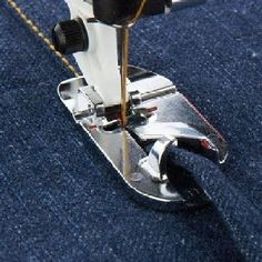 flat felled foot viking -  Viking owners desiring a felling foot for smaller jobs, buy the 5mm hemmer and pull off the rolly part! The 9mm foot is much better for thick fabrics, like denim (I get perfect results on jeans using it).