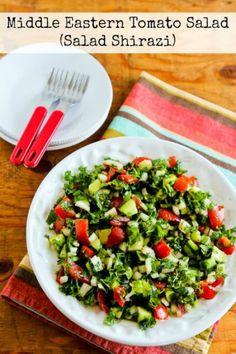 Middle Eastern Tomato Salad or Salad Shirazi (Video)