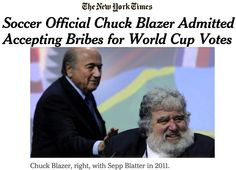 Soccer Official Chuck Blazer Admitted Accepting Bribes for World Cup Votes ➤ http://www.nytimes.com/2015/06/04/sports/soccer/soccer-official-chuck-blazer-admitted-accepting-bribes-for-world-cup-votes.html ②⓪①⑤ ⓪⑥ ⓪③