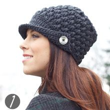 @Hannah Stuart-Walker you are inspiring me to start crocheting again! Women's Crochet Hat - FREE Pattern - love the button and flap!