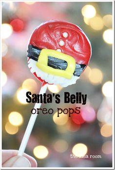 Santa's Belly Oreo Pops