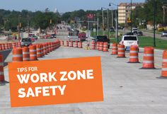 Work Zone Safety // Distracted driving is dangerous driving. Now that construction season is upon us, here are some important work zone tips to remember to help keep yourself and others safe.