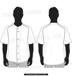baseball jersey shirt vector template