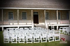Whether it is an intimate setting in a copse of oak trees along the banks of the Red River, or in front of the uniquely historic Big House or Big House garden, Lower Fort Garry offers a rich, unique and visually stunning ceremony venue Tent Wedding, Wedding Reception, Wedding Venues, Old Stone, Red River, Oak Tree, Big Houses, Historical Sites, Banks
