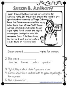 Susan B. Anthony | Home School - History | Pinterest | Susan B ...
