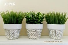 DIY Home Decor Projects: Painted Terracotta Pots | Hello Little Home #interiordesign #crafts