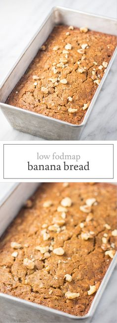 This gluten-free Low FODMAP Banana Bread is a yummy way to use up ripe bananas. Just stick to the listed serving size suggestion to keep things low FODMAP. :) | funwithoutfodmaps.com | #lowfodmap #glutenfree #glutenfreebread #bananabread #quickbread