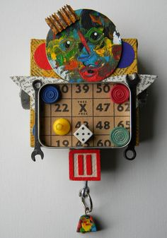 """He liked to play games""-Recycled art collage  www.etsy.com/shop/redhardwick"