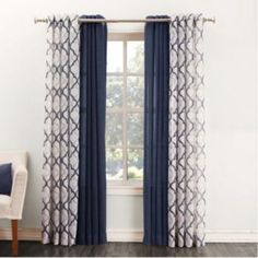 Master Bed Curtains (both panels). SONOMA life + style Ayden & Lona Curtains from Kohl's.