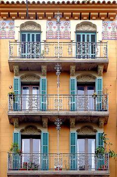 Barcelona - Pl. Olles, Barceloneta, Barcelona, Catalonia. Modernisme