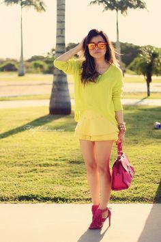 Blog da Lê: Retro Neon Soft Touch Rubber Wayfarer Sunglasses 8784