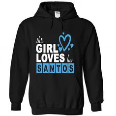 This Girl Love Her SANTOS - #tshirt design #long sweater. LIMITED TIME PRICE => https://www.sunfrog.com/LifeStyle/This-Girl-Love-Her-SANTOS-3251-Black-29737132-Hoodie.html?68278