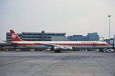 Vintage Airliners - A really long Air Canada seen in 1982 - by Ken Fielding Canadian Airlines, Douglas Dc 8, Luxury Jets, Passenger Aircraft, Air Lines, Vintage Airplanes, Civil Aviation, Bus, Air Travel
