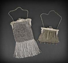 German silver metal mesh handbags
