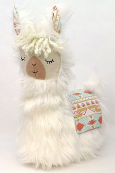 White Llama Alpaca Pillow by on Etsy Llama Pillow, Llama Plush, Llama Alpaca, Alpacas, Little Girl Toys, Toys For Girls, Sewing Toys, Sewing Crafts, Llama Face