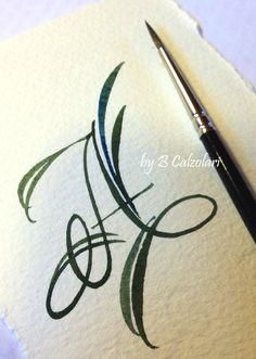 beautiful brush work by B Calzolari