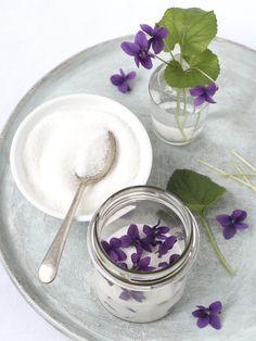 Sweet Violet scented Sugar recipe