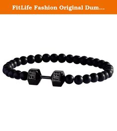 FitLife Fashion Original Dumbbell Bracelet Stainless Steel Glass Beads (Black Small). FitLife Dumbbell Bracelets are made out of stainless steel and high quality 6.5mm glass beads. FitLife's purpose is to keep you motivated on your personal fitness journey. Wear your dumbbell bracelet proudly to remind you of your goals no matter what outfit you have on. Stay motivated, driven and join the FitLife movement! Need Help Picking Your Size? Not sure what size fits you? No problem. The best way…