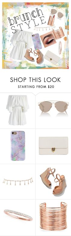 """Untitled #100"" by datnerdyfangirl ❤ liked on Polyvore featuring Chicwish, Christian Dior, Charlotte Tilbury, Alexander McQueen, Luv Aj, Schutz, Amrita Singh, brunch and polyvorefashion"