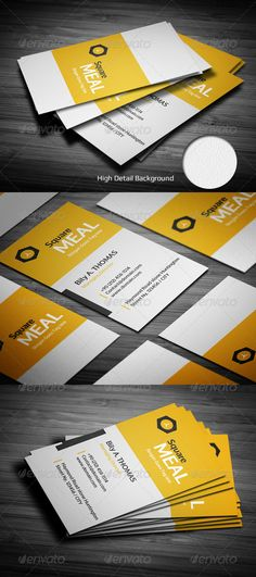 Square Clean Business Card