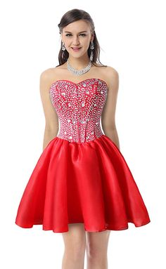 Charmian Women's Gorgeous Crystal Short Sweet 16 Homecoming Cocktail Prom Gowns >>> Find out more about the great product at the image link. (This is an affiliate link) Prom Gowns, Strapless Dress Formal, Bridesmaid Dresses, Formal Dresses, Fashion Silhouette, Cocktail Dress Prom, Junior Dresses, Unique Dresses, Party Dress