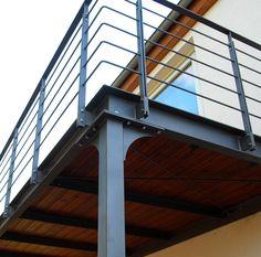 Balcony Baltic Sea Steel blue balcony Baltic Sea Steel blue The post balcony Baltic Sea Balcony Railing Design, Stair Railing, Railing Ideas, Railings, Balustrade Balcon, Balcony Grill, Steel Deck, Steel Frame Construction, Balkon Design
