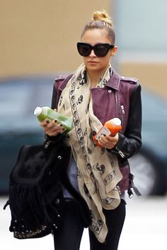 Nicole Richie was spotted leaving the Tracy Anderson gym in Studio City, Calif., with her hands full of fresh squeezed juice after a 'metamorphosis' class