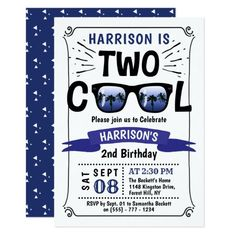 Two Cool Boys 2nd Birthday Invitations 2nd Birthday Invitations, Custom Invitations, 2nd Birthday Parties, Boy Birthday, Comic Book Style, Envelope Liners, Words, Horse
