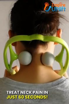 Best 11 This amazing neck and shoulder massager is designed to feel exactly like a therapist's comforting hands. It features two soft, yet firm, silicone balls, that resemble golf balls. These soft, silicone balls deeply penetrate tight muscles and target Health And Beauty Tips, Health And Wellness, Health Tips, Health Fitness, Health Recipes, Health Benefits, Neck And Back Pain, Neck Pain, Sore Neck And Shoulders