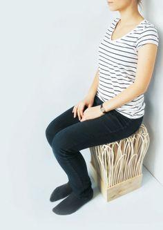 Polish designer Wiktoria Szawiel has created the Rattatan Stool.