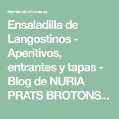 Ensaladilla de Langostinos - Aperitivos, entrantes y tapas - Blog de NURIA PRATS BROTONS de Thermomix® Alicante