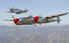 P-51 Mustang P-38 Lightning - World War II Airplanes Wallpaper