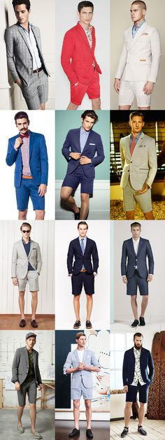 Men's Short Suit Lookbook