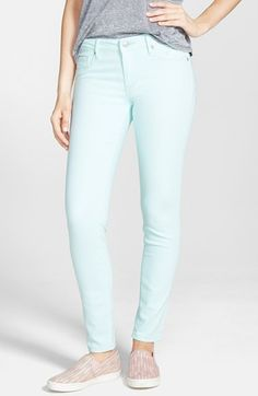 I just adore mint! Looks great with chambray, navy, raspberry pink, white. These are super comfortable. A mid rise. Not high waist.