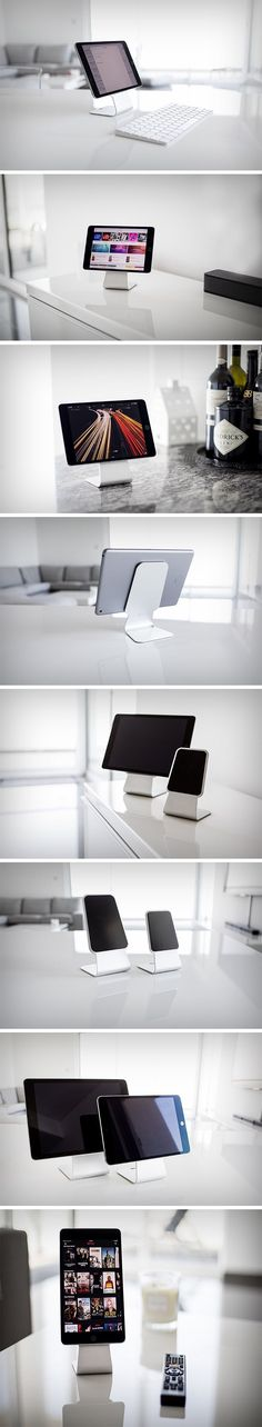 There are two ways to go about making your iMac portable. A, you get yourself the Lavolta iMac carrying case, or B. something less bizarre, and more cool. You turn your iPad into a miniature iMac! The Slope helps you turn your iPad or iPad Mini into a miniature desktop by allowing it to become a monitor. The stand sits on any surface using friction pads and allows you to dock/place your iPad on it securely (friction pads again) in landscape and portrait modes. BUY NOW!