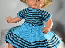 Puppenkleid gestrickt  für 38 cm  BabyPuppe