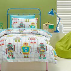 Kids House Robot Quilt Cover - Spotlight