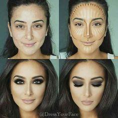 Konturieren, Hervorheben und Backen in Ihrem Make-up - Makeup Contour Beauty Make-up, Beauty Hacks, Hair Beauty, Beauty Tips, Beauty Skin, Beauty Care, Allure Beauty, Luxury Beauty, Beauty Ideas