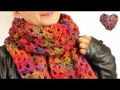 Herbst Schal Häkeln | Super kuschliger Schal in tollen Herbstfarben | Lochmuster mit Stäbchen - YouTube Crochet Scarves, Neck Warmer, Crafts, Youtube, Winter, Board, Knitting And Crocheting, Kids Origami, Crochet Hooks