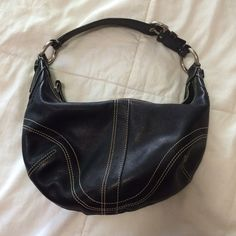 Cyber Monday Sale! Coach Shoulder Bag Black leather Coach shoulder bag. Great condition with no scratches, stains, or tears. Authentic but lost the Coach tag keychain. Coach Bags Shoulder Bags