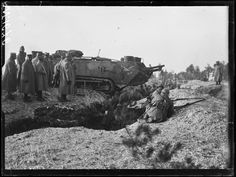 french soldiers watch a demonstration of a st chamond tank crossing a trench at mailly cao office agoogle moscowa
