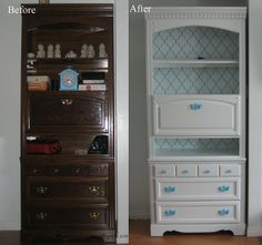 repurposed furniture before and after | Before and after bookshelf | Repurpose Furniture