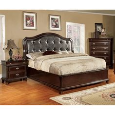 Furniture of America Jayden Crown 2-Piece Platform Bed with Nightstand Set | Overstock™ Shopping - Big Discounts on Furniture of America Bedroom Sets