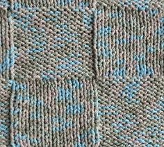 Cotton Twirl Squares Baby Blanket - free knit baby blanket pattern - Crystal Palace Yarns