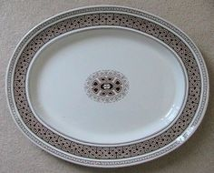 "HUGE 21"" Antique Brown Transferware Platter by Spode Copeland Circa 1880 www.englishtransferware.etsy.com $349.99"