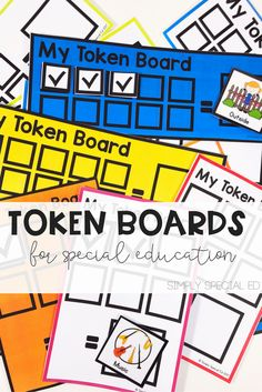 If theres one thing you need for your Special Ed classroom- it's token boards, and color coding makes everything better!