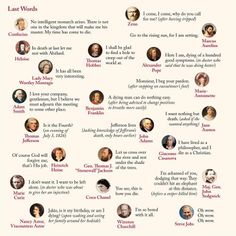 Last words of some famous authors...