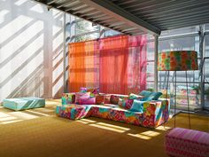 Missoni Home Eclectic Loft contemporary-family-room Decor, Room, Cool House Designs, Bohemian Furniture, Home Decor Color, Eclectic Loft, Contemporary Family Rooms, Missoni Home, Home Interior Design