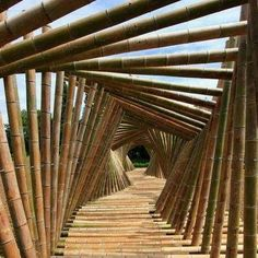 Walkway bamboo bridge for negril project
