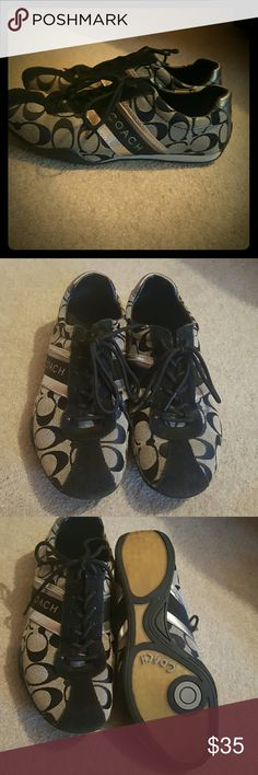 Coach sneakers Coach shoes normal wear and tear no major issues still have a lot of wear left and match with everything!! Coach Shoes